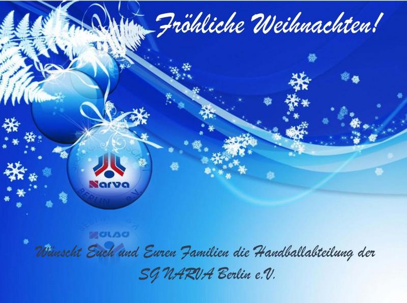 Frohe Weihnachten Berlin.Frohe Weihnachten Sg Narva Berlin E V
