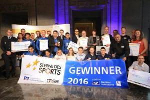 Verleihung Sterne des Sport in Silber am 16.11.2016 in Berlin: Gruppenfoto
